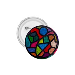 Stained Glass Color Texture Sacra 1 75  Buttons