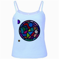 Stained Glass Color Texture Sacra Baby Blue Spaghetti Tank