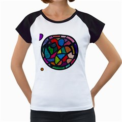 Stained Glass Color Texture Sacra Women s Cap Sleeve T