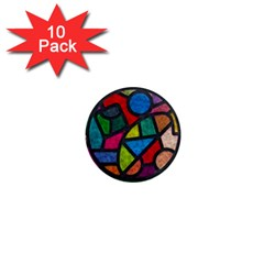 Stained Glass Color Texture Sacra 1  Mini Magnet (10 Pack)