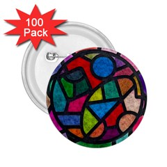 Stained Glass Color Texture Sacra 2 25  Buttons (100 Pack)