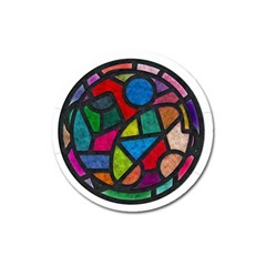 Stained Glass Color Texture Sacra Magnet 3  (Round)