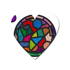 Stained Glass Color Texture Sacra Heart Magnet