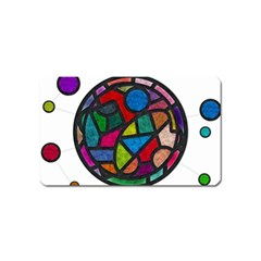Stained Glass Color Texture Sacra Magnet (Name Card)