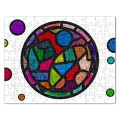 Stained Glass Color Texture Sacra Rectangular Jigsaw Puzzl