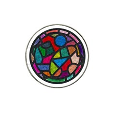 Stained Glass Color Texture Sacra Hat Clip Ball Marker (4 pack)