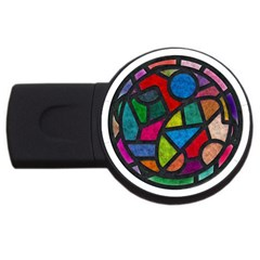 Stained Glass Color Texture Sacra USB Flash Drive Round (4 GB)