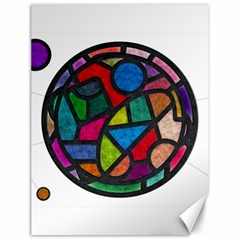 Stained Glass Color Texture Sacra Canvas 12  x 16