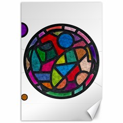 Stained Glass Color Texture Sacra Canvas 12  x 18