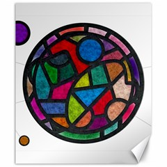 Stained Glass Color Texture Sacra Canvas 20  x 24