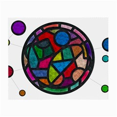 Stained Glass Color Texture Sacra Small Glasses Cloth (2 Side)