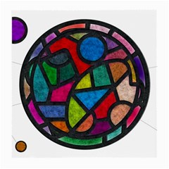 Stained Glass Color Texture Sacra Medium Glasses Cloth (2 Side)