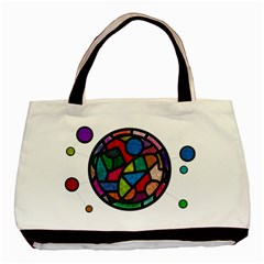 Stained Glass Color Texture Sacra Basic Tote Bag (Two Sides)