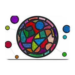 Stained Glass Color Texture Sacra Plate Mats