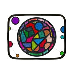 Stained Glass Color Texture Sacra Netbook Case (Small)