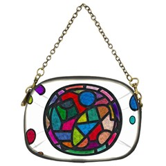 Stained Glass Color Texture Sacra Chain Purses (Two Sides)