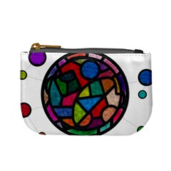 Stained Glass Color Texture Sacra Mini Coin Purses
