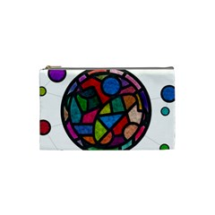 Stained Glass Color Texture Sacra Cosmetic Bag (Small)