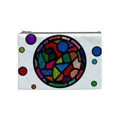 Stained Glass Color Texture Sacra Cosmetic Bag (Medium)