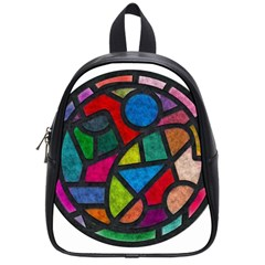 Stained Glass Color Texture Sacra School Bags (Small)