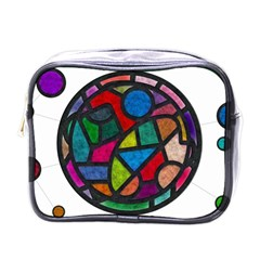 Stained Glass Color Texture Sacra Mini Toiletries Bags