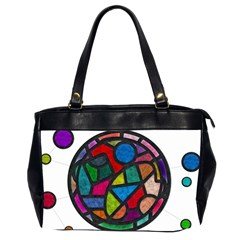 Stained Glass Color Texture Sacra Office Handbags (2 Sides)