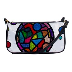 Stained Glass Color Texture Sacra Shoulder Clutch Bags