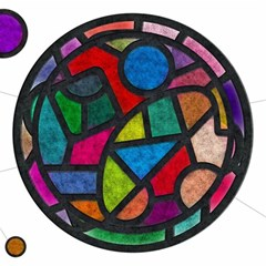 Stained Glass Color Texture Sacra Magic Photo Cubes
