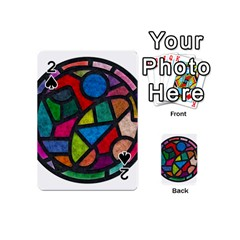 Stained Glass Color Texture Sacra Playing Cards 54 (mini)