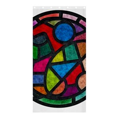 Stained Glass Color Texture Sacra Shower Curtain 36  X 72  (stall)