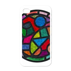 Stained Glass Color Texture Sacra Apple Iphone 4 Case (white)