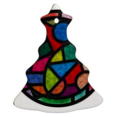 Stained Glass Color Texture Sacra Ornament (christmas Tree)