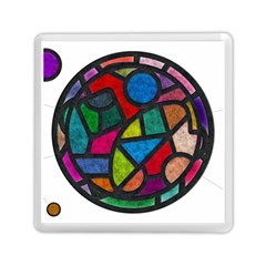 Stained Glass Color Texture Sacra Memory Card Reader (square)