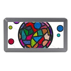 Stained Glass Color Texture Sacra Memory Card Reader (mini)