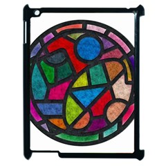 Stained Glass Color Texture Sacra Apple Ipad 2 Case (black)