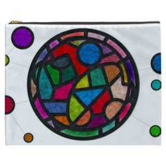 Stained Glass Color Texture Sacra Cosmetic Bag (XXXL)