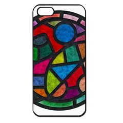Stained Glass Color Texture Sacra Apple iPhone 5 Seamless Case (Black)