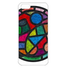 Stained Glass Color Texture Sacra Apple iPhone 5 Seamless Case (White)