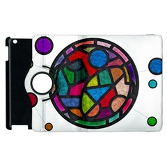 Stained Glass Color Texture Sacra Apple Ipad 3/4 Flip 360 Case