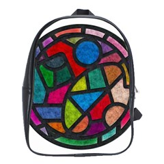 Stained Glass Color Texture Sacra School Bags (xl)