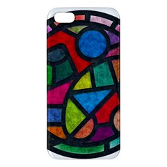 Stained Glass Color Texture Sacra Apple iPhone 5 Premium Hardshell Case