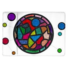 Stained Glass Color Texture Sacra Samsung Galaxy Tab 10.1  P7500 Flip Case