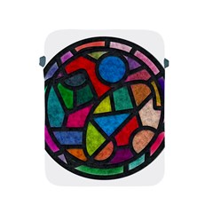 Stained Glass Color Texture Sacra Apple Ipad 2/3/4 Protective Soft Cases