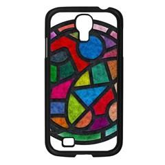 Stained Glass Color Texture Sacra Samsung Galaxy S4 I9500/ I9505 Case (black)