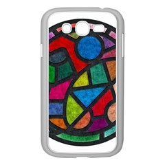 Stained Glass Color Texture Sacra Samsung Galaxy Grand Duos I9082 Case (white)