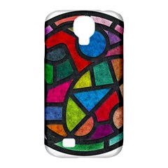 Stained Glass Color Texture Sacra Samsung Galaxy S4 Classic Hardshell Case (pc+silicone)