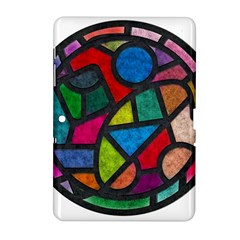Stained Glass Color Texture Sacra Samsung Galaxy Tab 2 (10 1 ) P5100 Hardshell Case