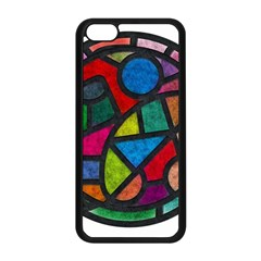 Stained Glass Color Texture Sacra Apple iPhone 5C Seamless Case (Black)