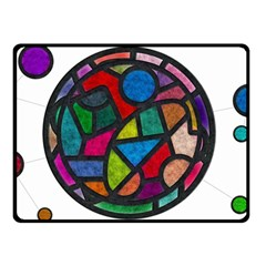 Stained Glass Color Texture Sacra Double Sided Fleece Blanket (small)