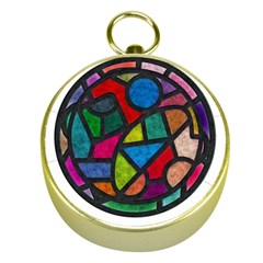 Stained Glass Color Texture Sacra Gold Compasses